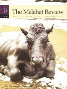 The Malahat Review cover: Issue 182 Spring 2013, stylized, seated brown cow