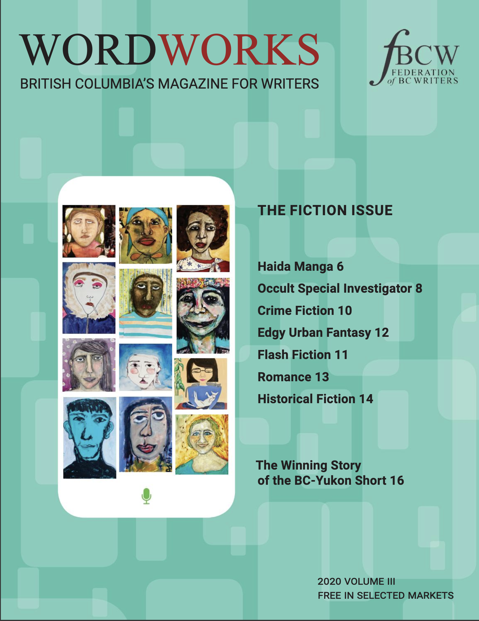 2020 Vol III The Fiction Issue cover