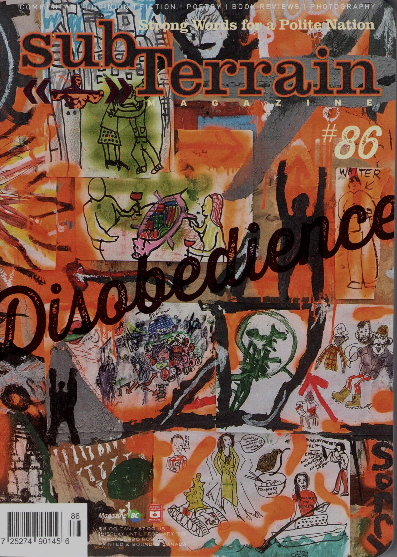 Issue 86 Fall 2020 Disobedience cover
