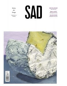 SAD Mag cover No. 23: Cheese, painting of thick brie-type cheese with a slice cut out