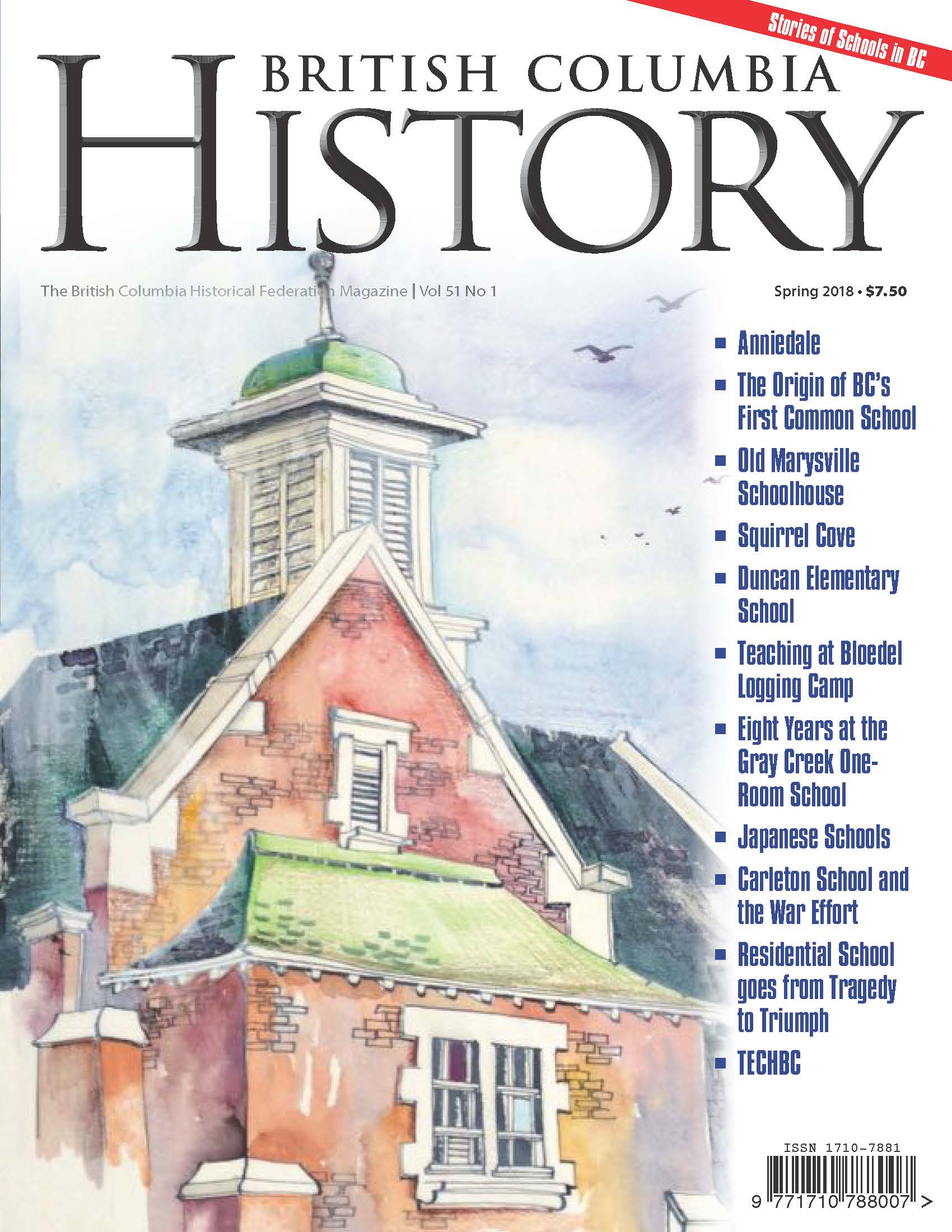 BC History Cover 51.1 Spring 2018