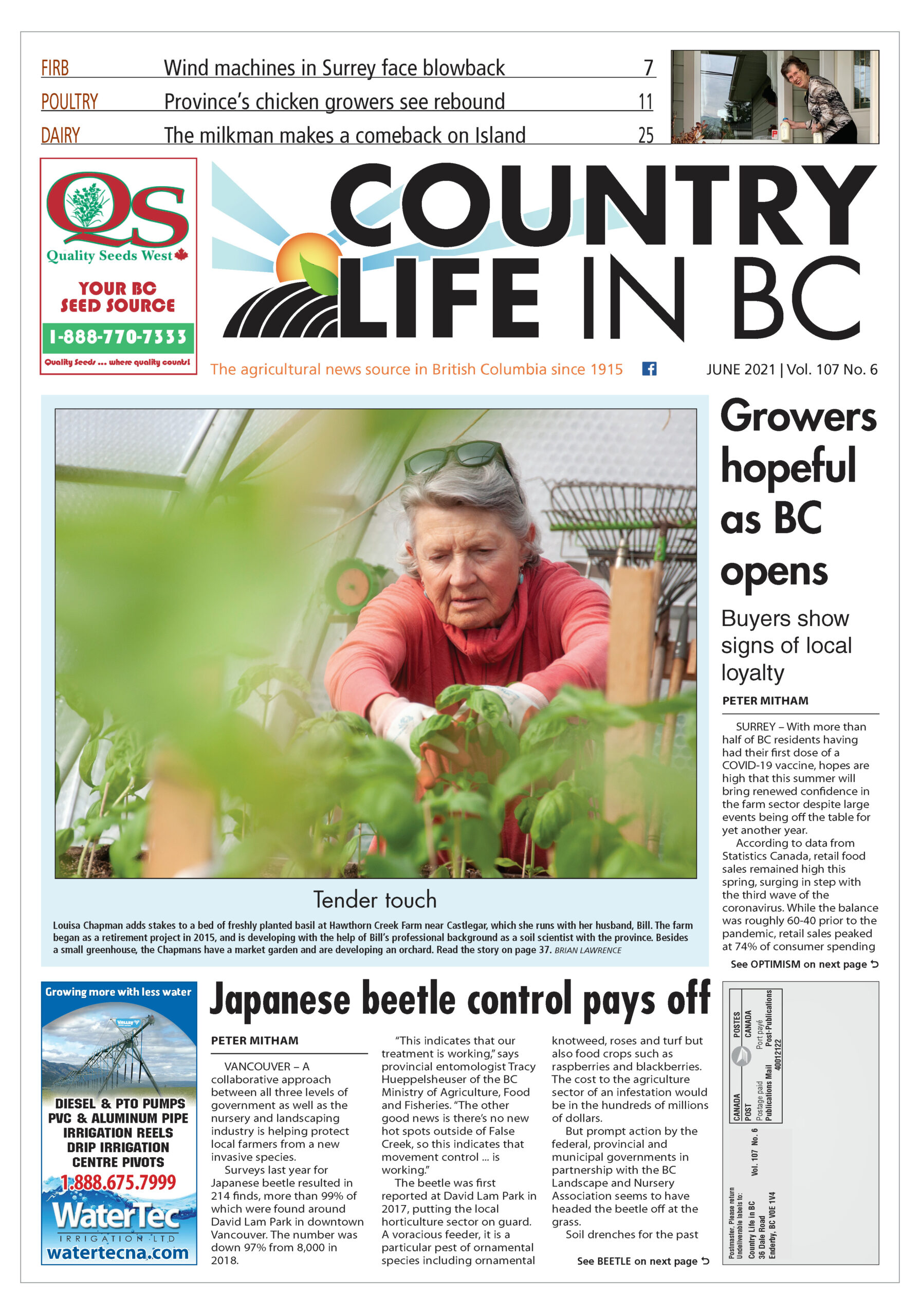 Country Life in BC June 2021 cover