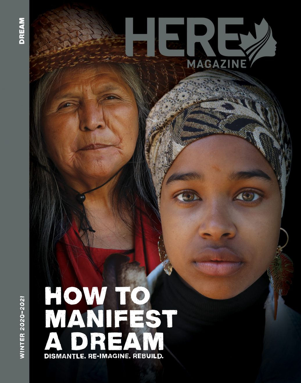 Here Magazine Winter 2020-2021 How To Manifest a Dream cover