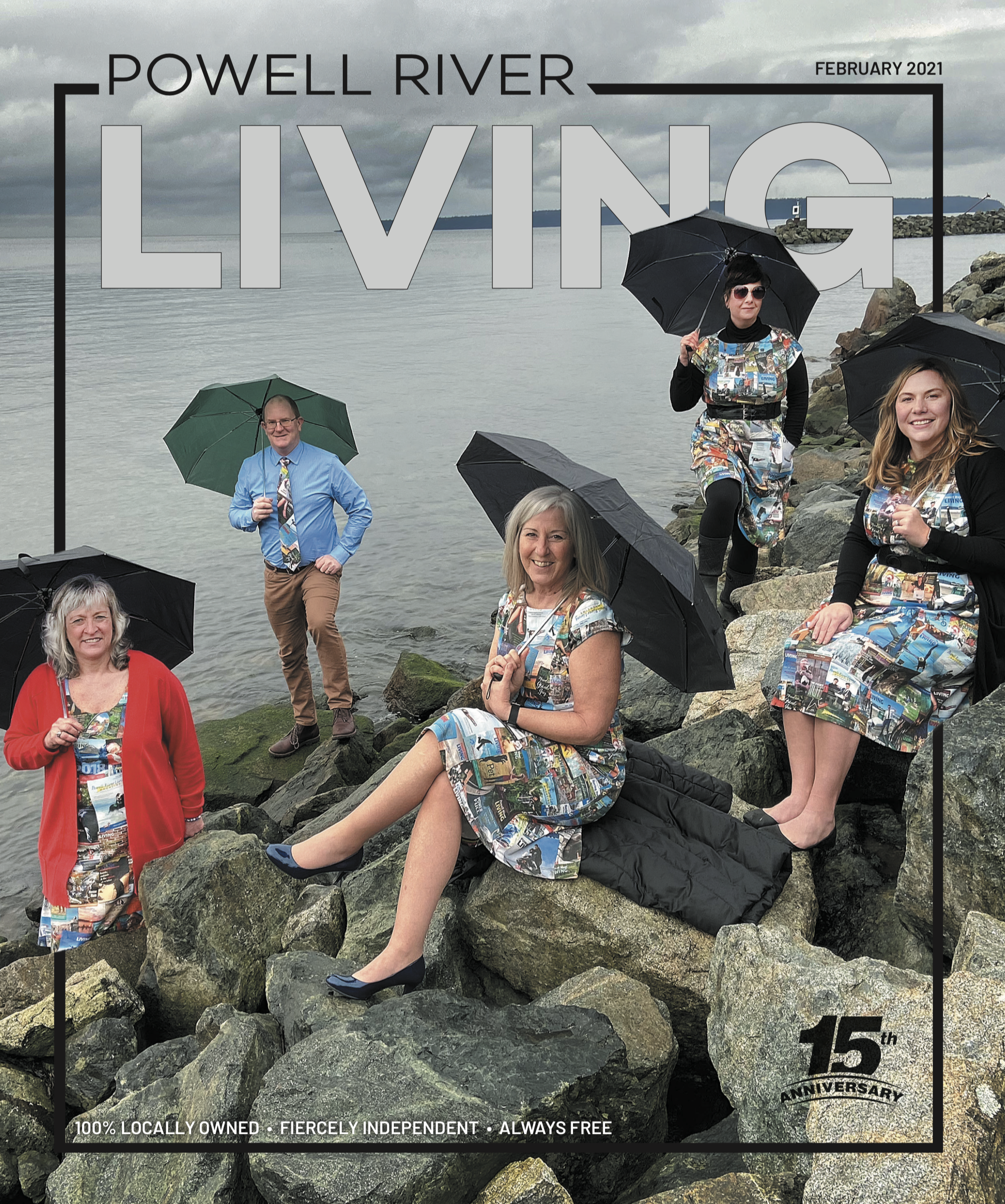 Powell River Living 15th anniversary cover