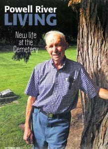Powell River Living October 2018 cover: New Life at the Cemetery