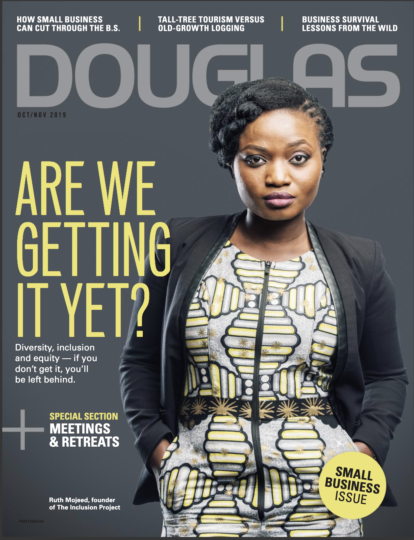 Douglas Oct/Nov 2019 cover with Ruth Mojeed, founder of The Inclusion Project