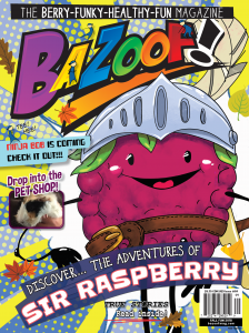 BAZOOF issue 64 cover featuring Sir Raspberry