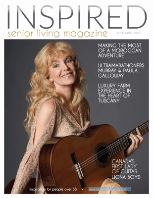 INSPIRED senior living Canadian Magazine Cover September 2017 - Lifestyles of people over 55.