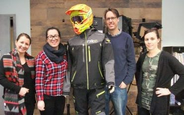 Mountain Sledder staff, intern & mannequin