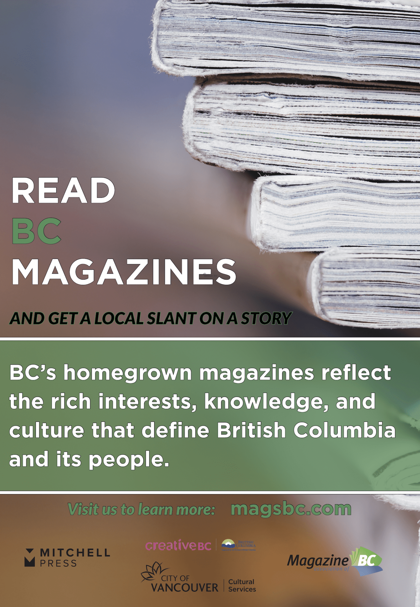 Read BC Magazines Transit Shelter poster - 2019 Mar-Apr
