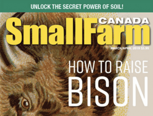 Small Farm Canada cover: How To Raise Bison