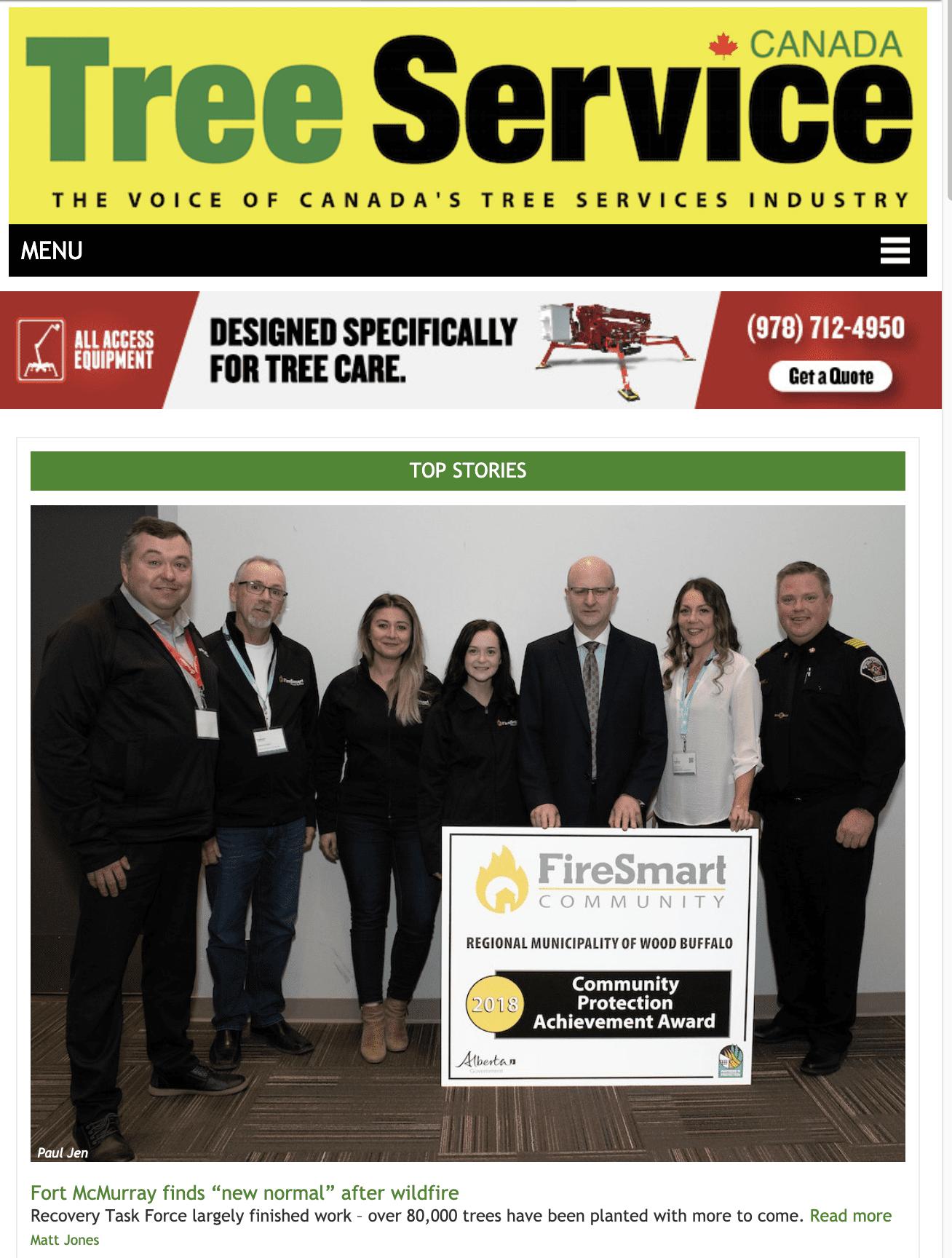 Tree Service Canada – website 20190530