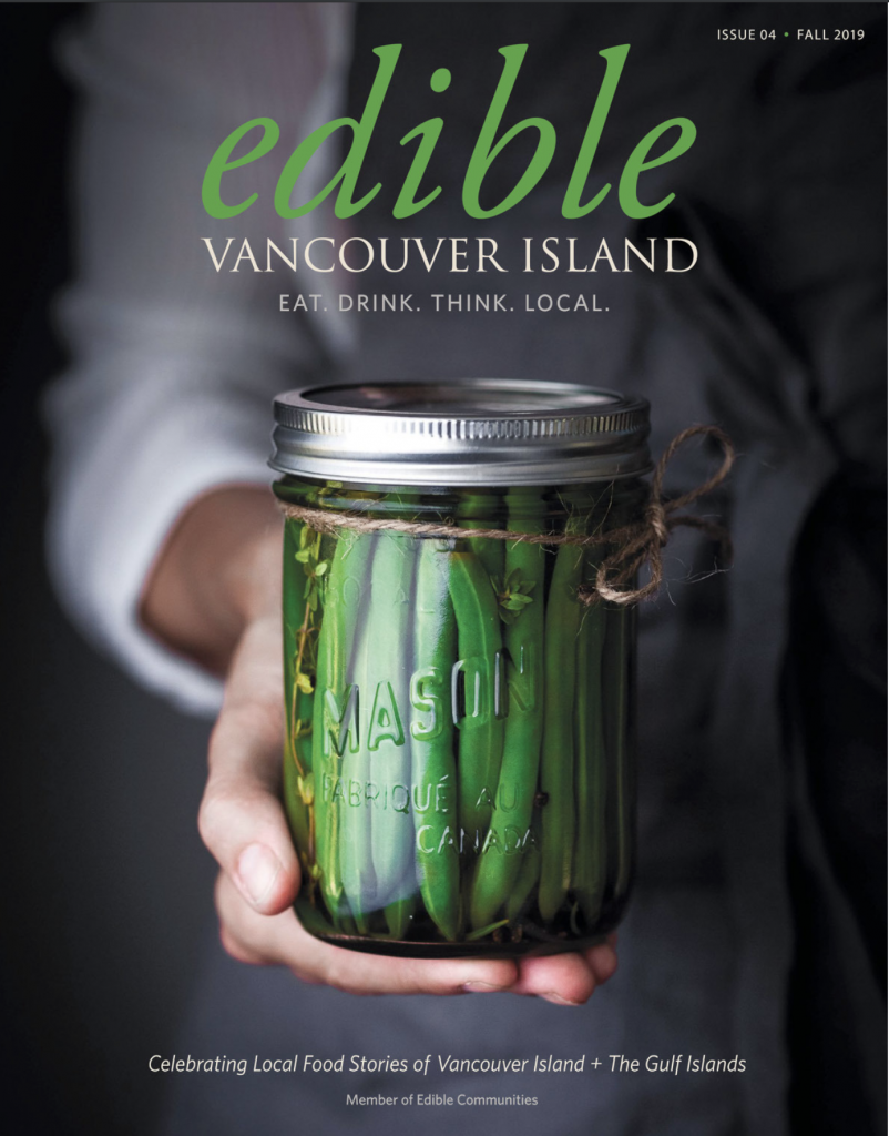 Edible Vancouver Island Fall 2019 cover jar of green beans