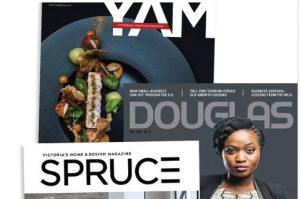 YAM, Douglas and SPRUCE magazine covers