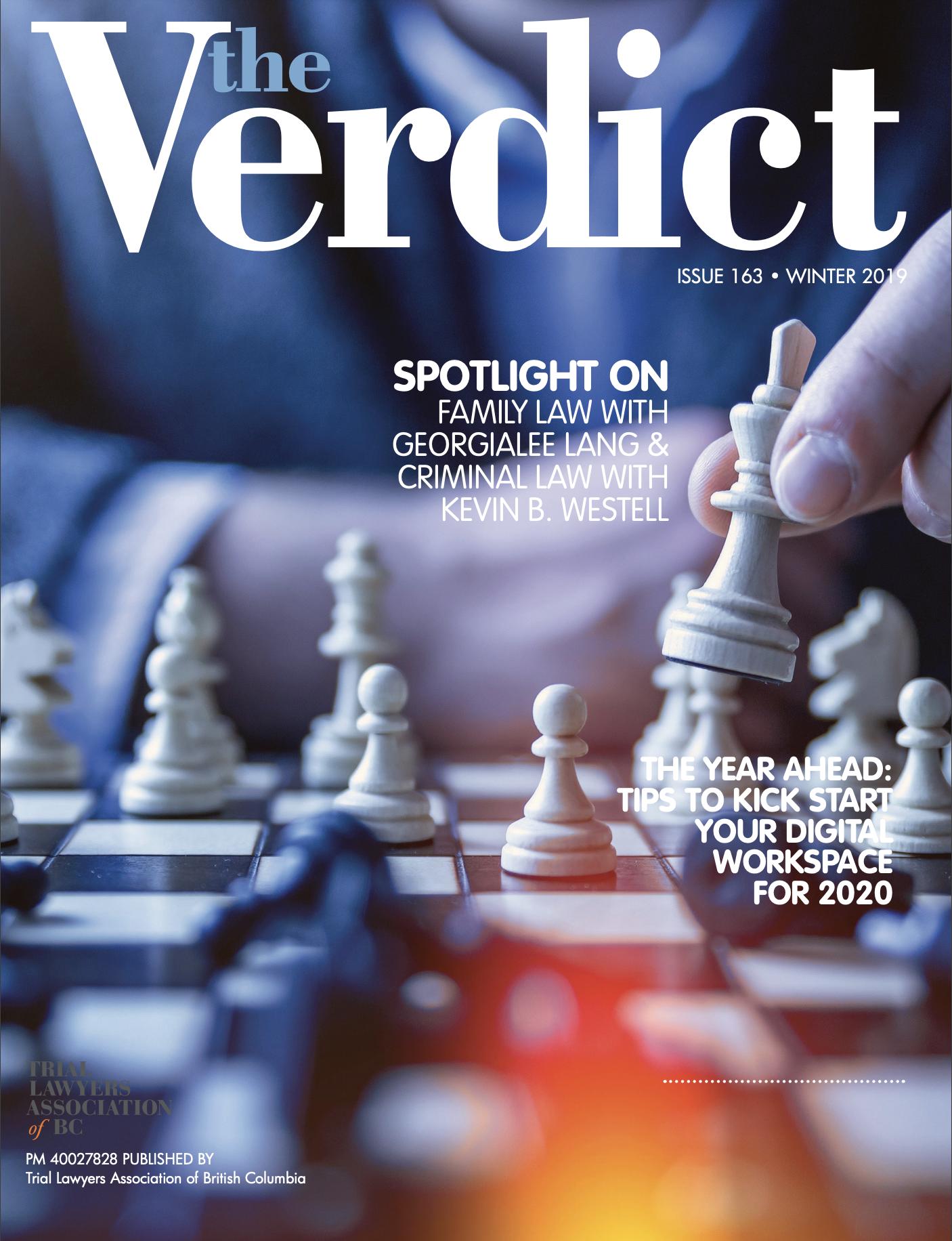 the Verdict 2019 Winter cover