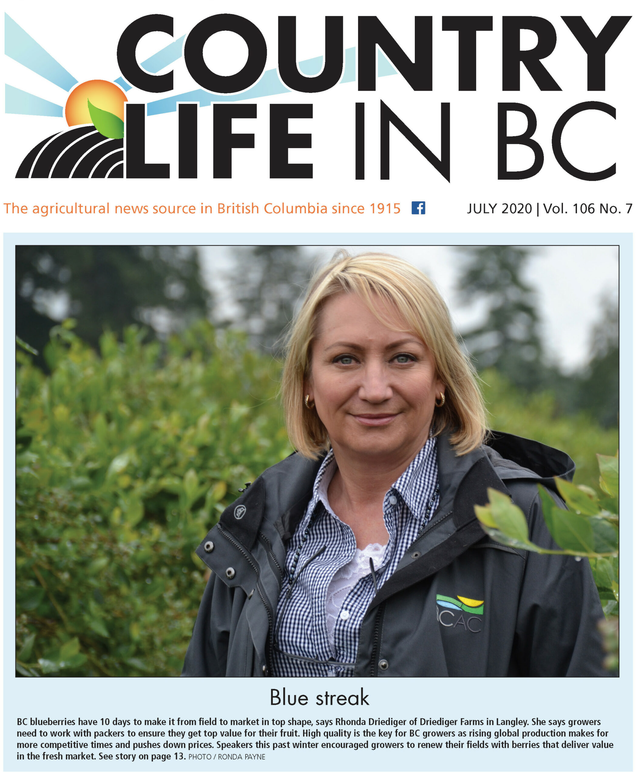 Country LIfe in BC 2020 July - cover p 1 detail