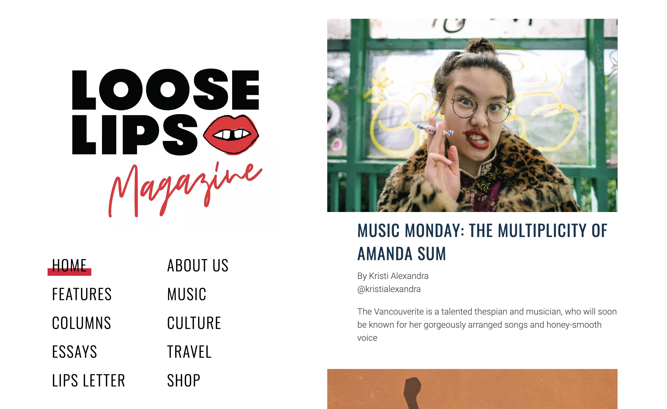 Loose Lips Magazine – Feb. 1/21 screenshot