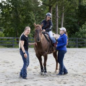 3 with horse - photo Sue Ferguson