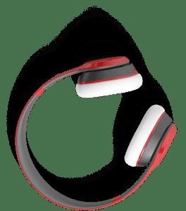 Magazine Association of BC Slider red headphones