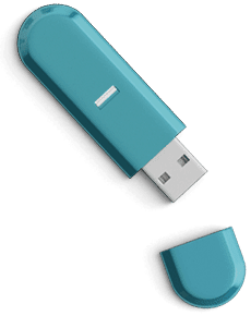 Magazine Association of BC Slider teal thumb drive